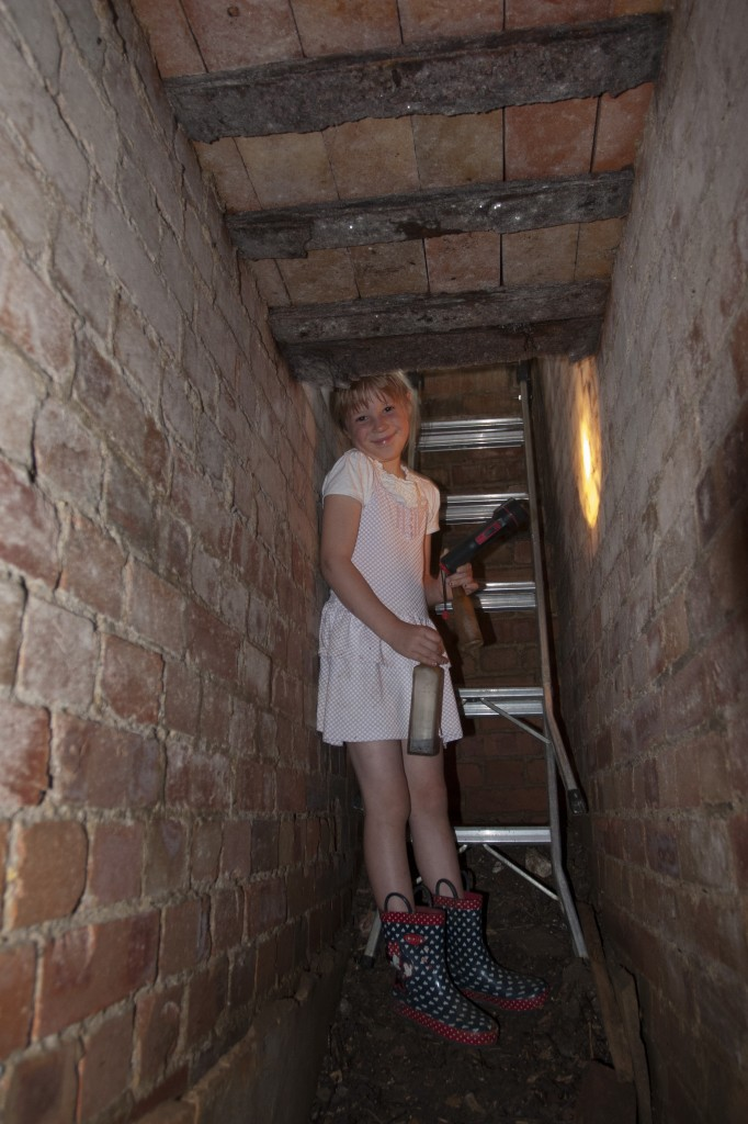 If you are wondering how tight the corridors are, here is a six-year-old to provide scale