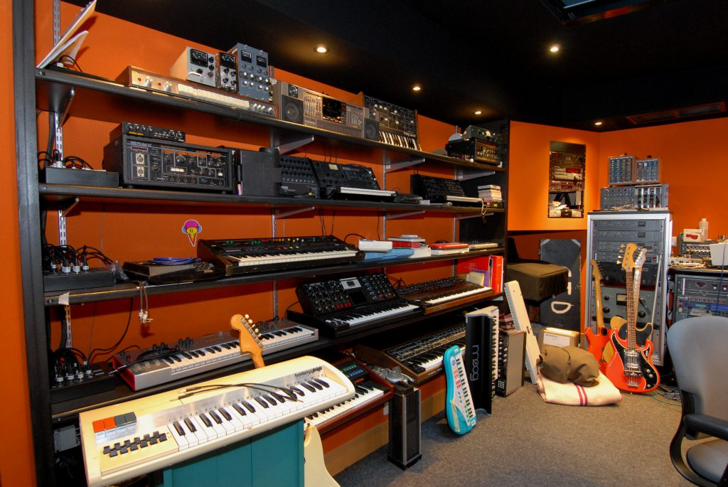 Just some of the synths and keyboards at 13