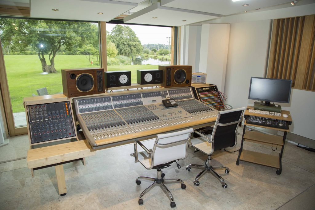 The recording control room